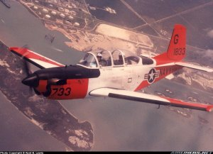 T 34C 733 over Corpus Christ Bay VT 27.jpg