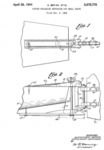 Alcort Rudder Releasing Mechanism Patent page 1.png